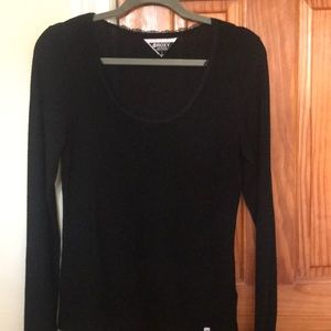 ROXY. Black long sleeve thin sweater. Size large.